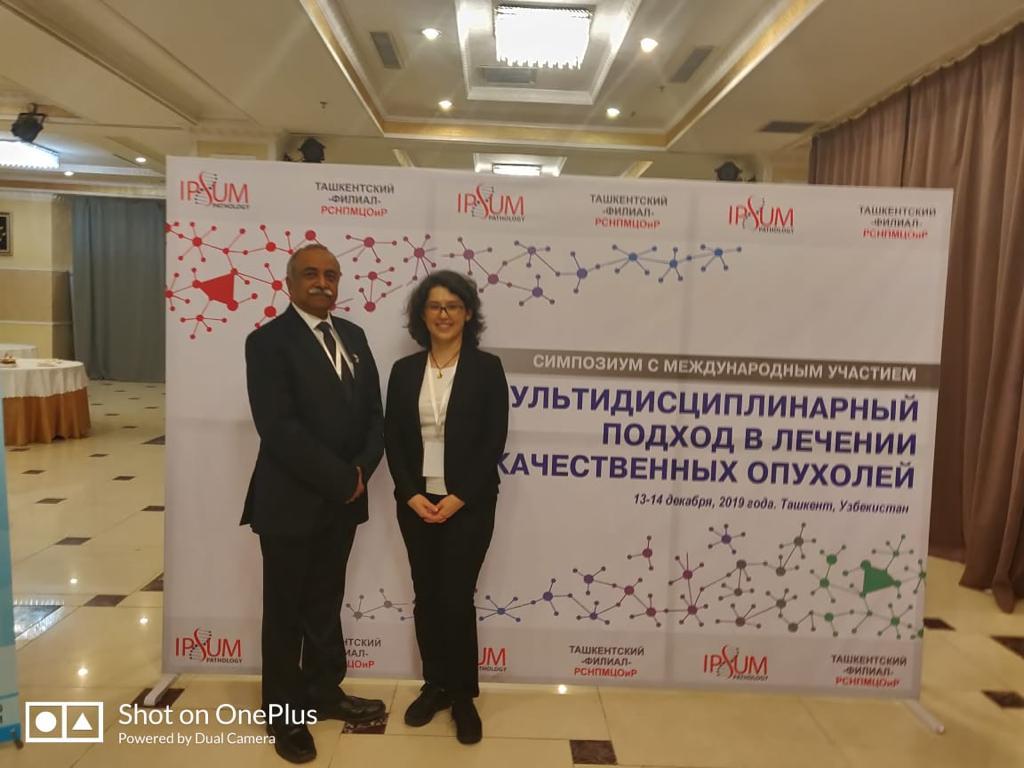 """13-14 декабря в г.Ташкент, Узбекистан состоялась научно-практическая конференция """"Мультидисциплинарный подход в лечении злокачественных опухолей"""""""