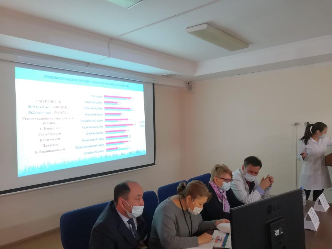 Проведен семинар-совещание по итогам работы онкологической службы Южного региона Алматинской области